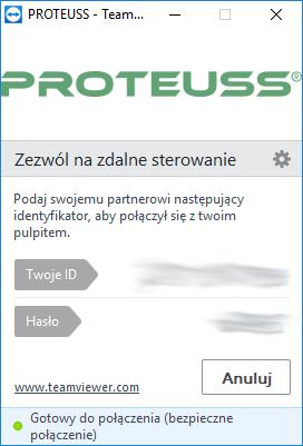 ekran proteuss pomoc zdalna
