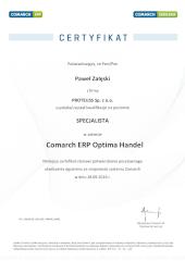 Handel comarch certyfikat