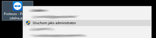 uruchom jako administrator teamviewer